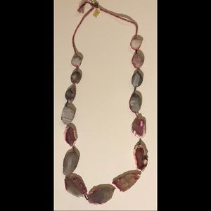 "Chan Luu 18"" inch long necklace with Fuchsia Agate"